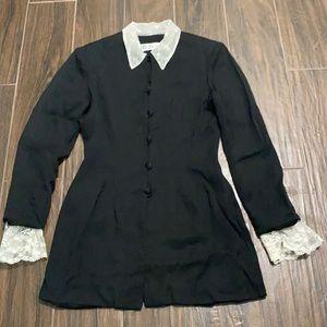 Ann Tobias lace black blazer vintage